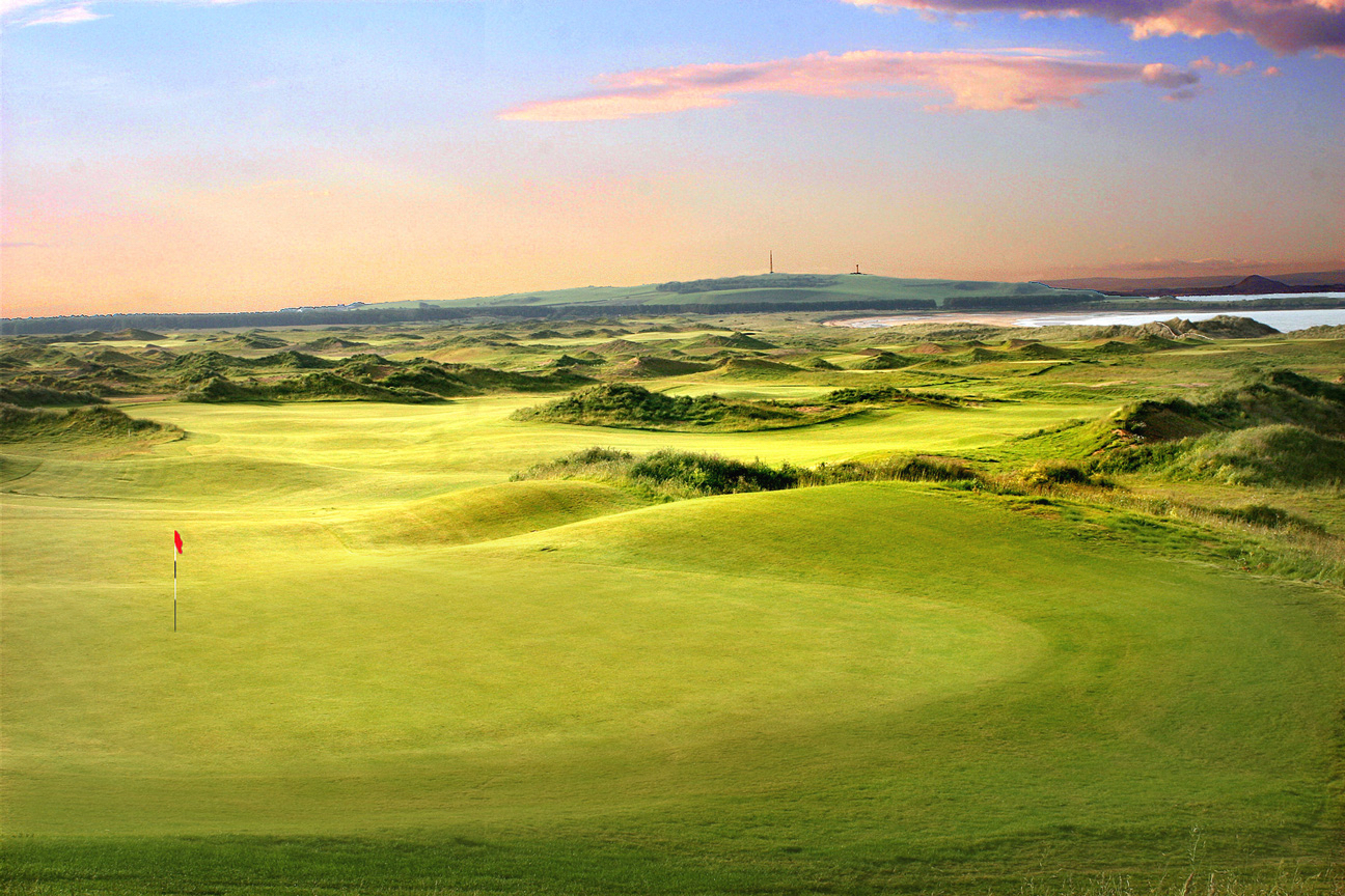 The course at sundown.